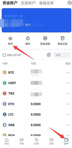okex怎么充币,okex充币流程,okex充币地址怎么用